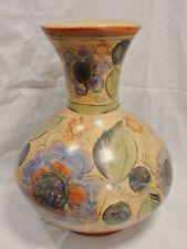 "Very LARGE Vintage Mexican Tonala Tlaquepaqu Folk Art Pottery Vase 11"""