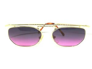 ESSENCE Sunglasses Vintage Ages 80 Made IN Japan Retro Man Woman Gold