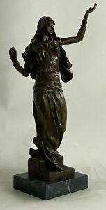 Hot Cast Middle Eastern Woman Dancing Dancer Bronze Sculpture Marble Artwork