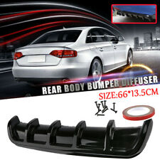 Universal Car Rear Bumper Body Kit Shark Chin Spoiler Diffuser Trim Cover Black
