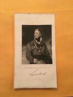 KM) Original 1831 Thomas Graham, 1st Baron Lynedoch British Army Engraving