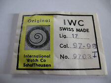IWC INTERNATIONAL 97,98 ORIGINAL WATCH MAINSPRING PART 770