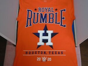 WWE WWF NXT Royal Rumble 2020 I was there T-shirt(M) Orange Houston January 26