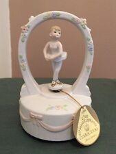 Rare Lefton Porcelain Musical Rotating Ballerina Girl Dancing Music Box Figure