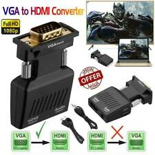 HDMI Female To VGA Male Converter Adapter Support 1080P Signal Output W/ Audio.M