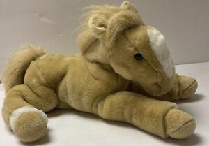 "Animal Alley Plush Horse Stuffed Animal 14"" Palomino Pony Toys R' Us 2000 LOVEY"