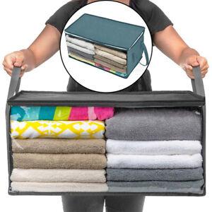 sous-Lit Vêtements Rangement Boîtes Sacs Zip Agenda Garde-Robe Cube Closet Grand