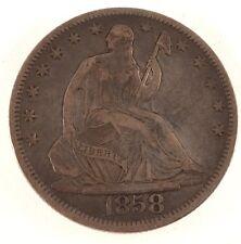 1858-O Seated Liberty Half Dollar - Xf Condition