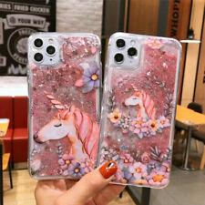 Cartoon Unicorn Quicksand Phone Case Cover For iPhone 11  Max X XR 6 7 8 SE 2020