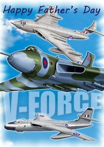 V-FORCE ~ Father's Day Card **** featuring XH558 **** NEW **** with NEW stock