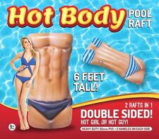 FLOAT HOT Body inflatable Ocean Beach Pool FREE Shipping Double Sided raft
