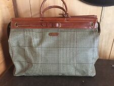 Ralph Lauren vintage GLENPLAID Satchel Large Weekender LARGE  tote bag LUGGAGE