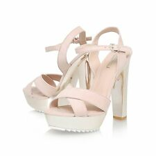 8f40db558eae Carvela Kurt Geiger Gone Chunky Gold Heeled Sandals Size 4 37 NEW RRP £130