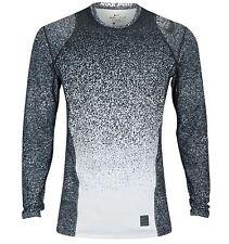 Nike M Men's PRO WARM Mezzo Printed LS Fitted Shirt NEW 820215 100 Black/White