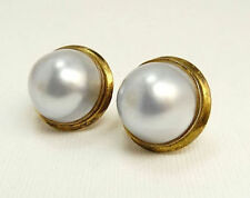 20mm Genuine South Sea Mabe Pearl Earrings with Omega Backs 14K