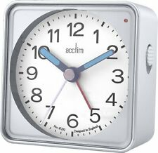 Acctim 15457 Adina Silver compact travel  Alarm Clock with Light