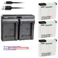 Kastar Battery Dual Charger for Xiaomi YI AZ13 AZ13-2 Xiaomi Yi 1 Action Camera