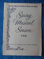 Carmen Jones - New York City Center Theatre Playbill - June 4th, 1956 - Smith