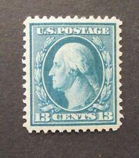 1909 US S# 339, 13c Washington, blue green, double line watermark MLH OG vf