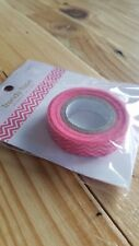 "Queen & Co Washi Trendy Tape! ""Skinny Minnie Chevron Pink"" 10 yards each roll!"