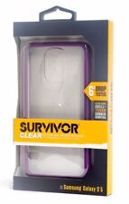 Griffin Survivor Clear Hard Shell Case for Samsung Galaxy S5 - Clear/Purple
