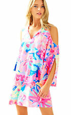 Lilly Pulitzer Playa Hermosa Cold Shoulder Benicia Tunic Dress S New