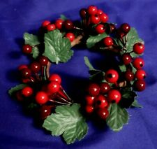 "Floral Berry 2.75"" Candle Ring Wreath"