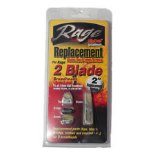 """Rage 2 Blade Replacement Blades 2"""" Tips O-Rings - Screws for 100, 125 and 40KE"""