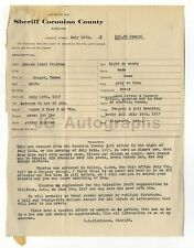 Wanted Notice - Edward Stanton/Forgery & Jail Breaking - Arizona - 1917
