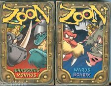 ZOON - WEST END GAMES - RHINOGOTHS & MONKUS DECK - WARUS & BOARIX DECK - SEALED