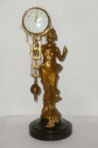 Mechanische Mysterieuse Uhr Uhren Tischuhr Schwingpendeluhr Pendule Figur Dame