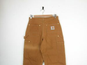 """Carhartt DOUBLE KNEE Sand Canvas Straight Workwear Carpenters Trousers 