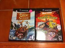 Two(2) Gamecube games Open Season & Nicktoons Battle for Volcano Island GC L@@K