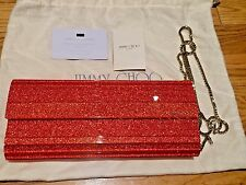 Jimmy Choo 'Sweetie' Clutch Vibrant Red $995 !!!