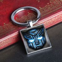 Optimus Prime Transformers Keychain Key Chain Alloy Square Ring Keyring Gift