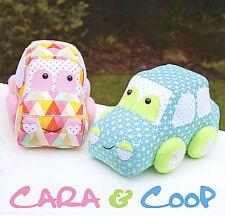 Cara e coop-macchine per cucire Craft PATTERN-giocattolo morbido AUTO AUTOMOBILI