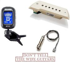 EMG ACS Ivory Acoustic Active Pickup ( FREE GUITAR TUNER ) Bajo Sexto Or Quinto