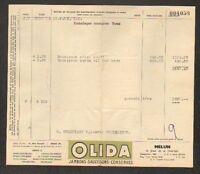 "MELUN (77) USINE de BOUCHERIE / JAMBON SAUCISSON CONSERVES ""OLIDA"" en 1953"