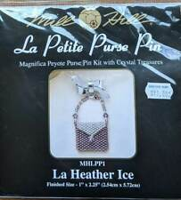 MILL HILL La Petite Purse Pin Peyote Beading KIT New Heather Ice
