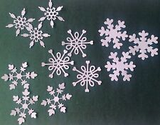 16 x  DIE CUT WHITE SNOWFLAKES FOR CHRISTMAS CARD TOPPERS