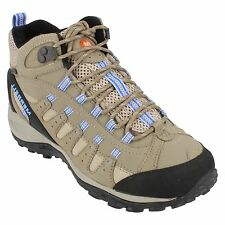 LADIES WOMENS MERRELL DESERET MID WATERPROOF LACE UP HIKING BOOTS J18016