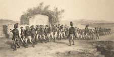 ESERCITO TURCHIA COSCRITTI Recruitment Turkish Army - Litografia Originale 1800