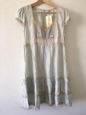 Miss Selfridge Victorian Vintage Romantic Pure Silk &  Lace Dress BNWT Size UK 8