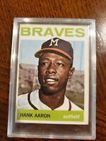 1964 Topps Hank Aaron Milwaukee Braves #300 Card No Creases Amazing Cond EX+!!!