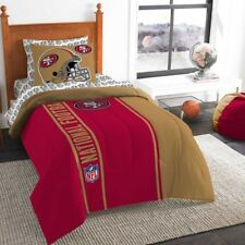 New NFL San Francisco 49ers Bedding Set Comforter Pillowcase Sheet Set Twin Size