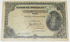 Banco De Portugal 2500 Reis - 1909 currency - Very Rare - Compare Prices