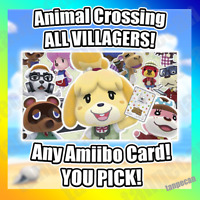 ANIMAL CROSSING NEW HORIZONS AMIIBO CARDS NFC - CHOOSE ANY VILLAGER YOU WANT!