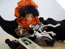 "Robin Woods' October Halloween Clown Doll 8"" - Calendar Collection Hand Painted"