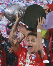 Chile Alexis Sanchez Autographed Signed 8x10 Photo JSA COA