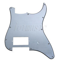 Guitar Pickguard Scratch Plate For Electric Fender 11 Hole Aluminum Brushed
